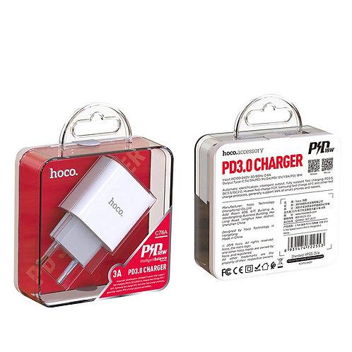Зарядное устройство Hoco C76A Speed source PD3.0, белое