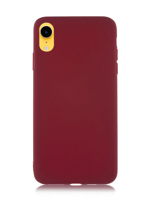 Накладка iPhone XR Silicone Case винный