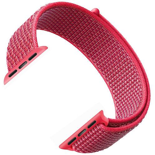 Ремешок из плетёного нейлона для Apple Watch 38/40mm красный