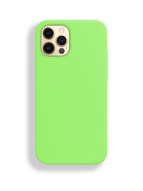 """""""Ярко- зеленый"""" чехол силиконовый на айфон на Apple iPhone 12/12 PRO MAX"""