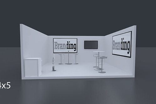 Exhibition Stand 5 Mtrs x 4 Mtrs - 1 Side Open