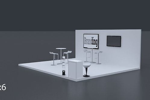 Exhibition Stand 6 Mtrs x 5 Mtrs - 3 Side Open #RF125