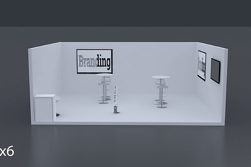 Exhibition Stand 6 Mtrs x 5 Mtrs - 1 Side Open  #RF123