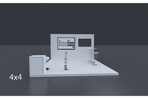 Exhibition Stand 4 Mtrs X 4 Mtrs - 3 Side Open
