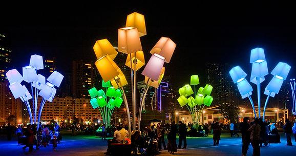 lighting decoration in dubai, lighting fextival sharjah, lighitng festival dubai,