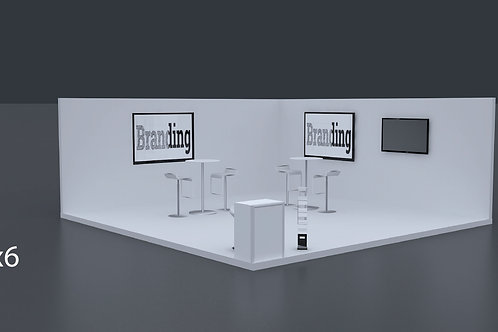 Exhibition Stand 6 Mtrs x 6 Mtrs - 2 Side Open  #RF127