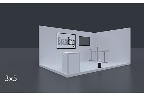 Exhibition Stand 5 Mtrs X 3 Mtrs - 2 Side Open #RF110
