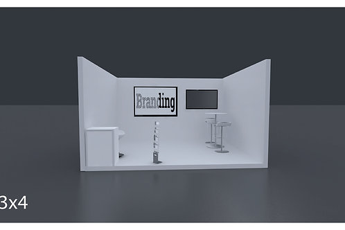 Exhbition Booth 4 X 3 Mtrs - 1 Side Open  #RF106