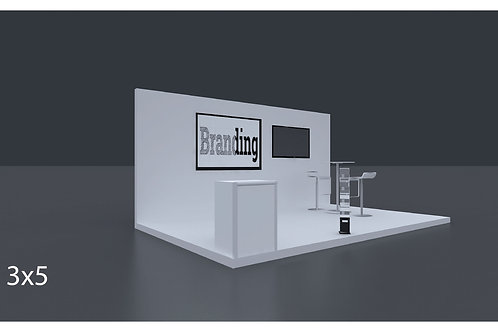 Exhibition Stand 5 Mtrs x 3 Mtrs - 3 Side Open #RF111