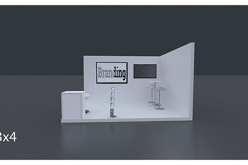 Exhibition Stand 4 X 3 Mtrs - 2 Side Open #RF 107
