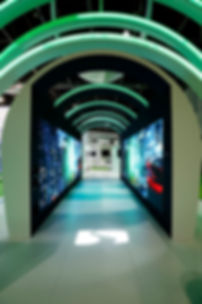 Led wall rentals dubai, projection tunnel,