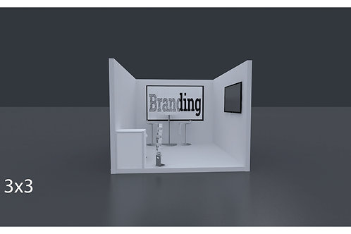 Exhibition Stand 3 X 3 Mtrs - 1 Side Open  #RF103