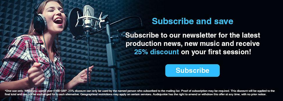 Discount Music Services, Lincoln music recording studio