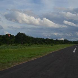 Vista hacia el sur desde la pista.