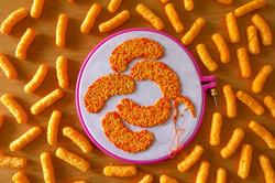 Textile art for Cheetos