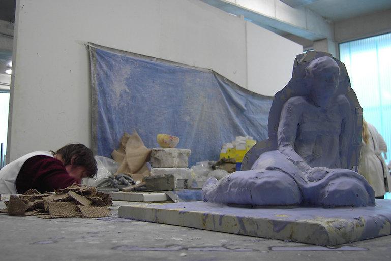 beeldhouwen in Leuven 1