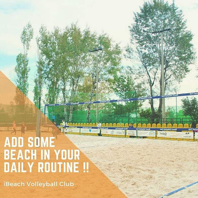Add some beach in your daily routine !!