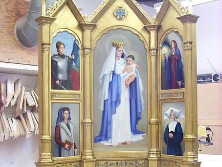 french church triptych