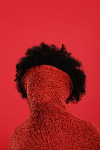 Rojo de Cuello del suéter