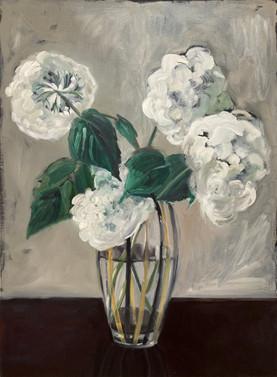 vase with hydrangeas