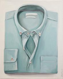 mint folded shirt