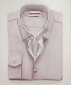 pink folded shirt