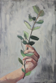 sketch of twig with leaves