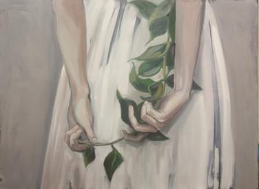 girl with twig