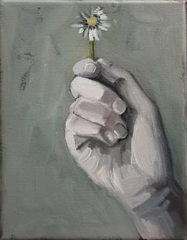 hand with daisy