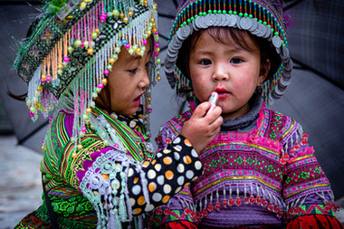 Vietnam Enfants traditionnels