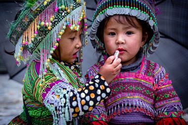 Vietnam Enfants traditionnels