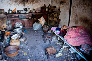 Inside the house of an old lady -China