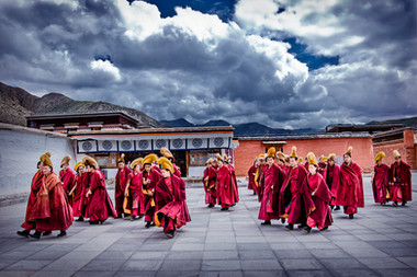 Monastère tibétain - China