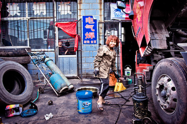 Chine - Femme au travail