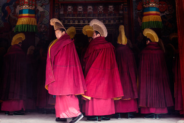 Les moines - Monastère tibétain - China