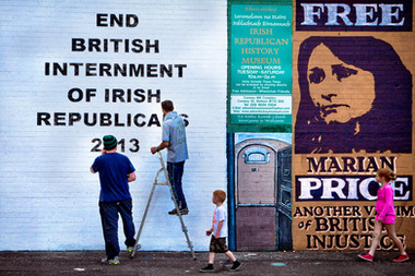 Peace Walls, Catholic Side -Belfast
