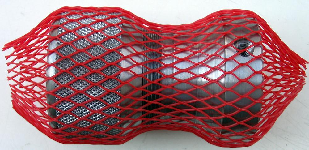 Oberflächenschutznetz CPN 100 - Ø 50-100 mm, rot, Dispenserbox