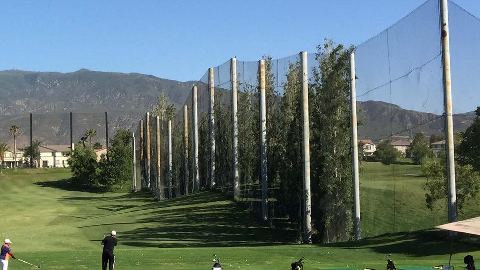 Ballfangnetz Golf aus PP - Als Randabsicherung - knotenlos - hochfest - 1,5 mm Stärke - 20 mm Maschenweite - schwarz