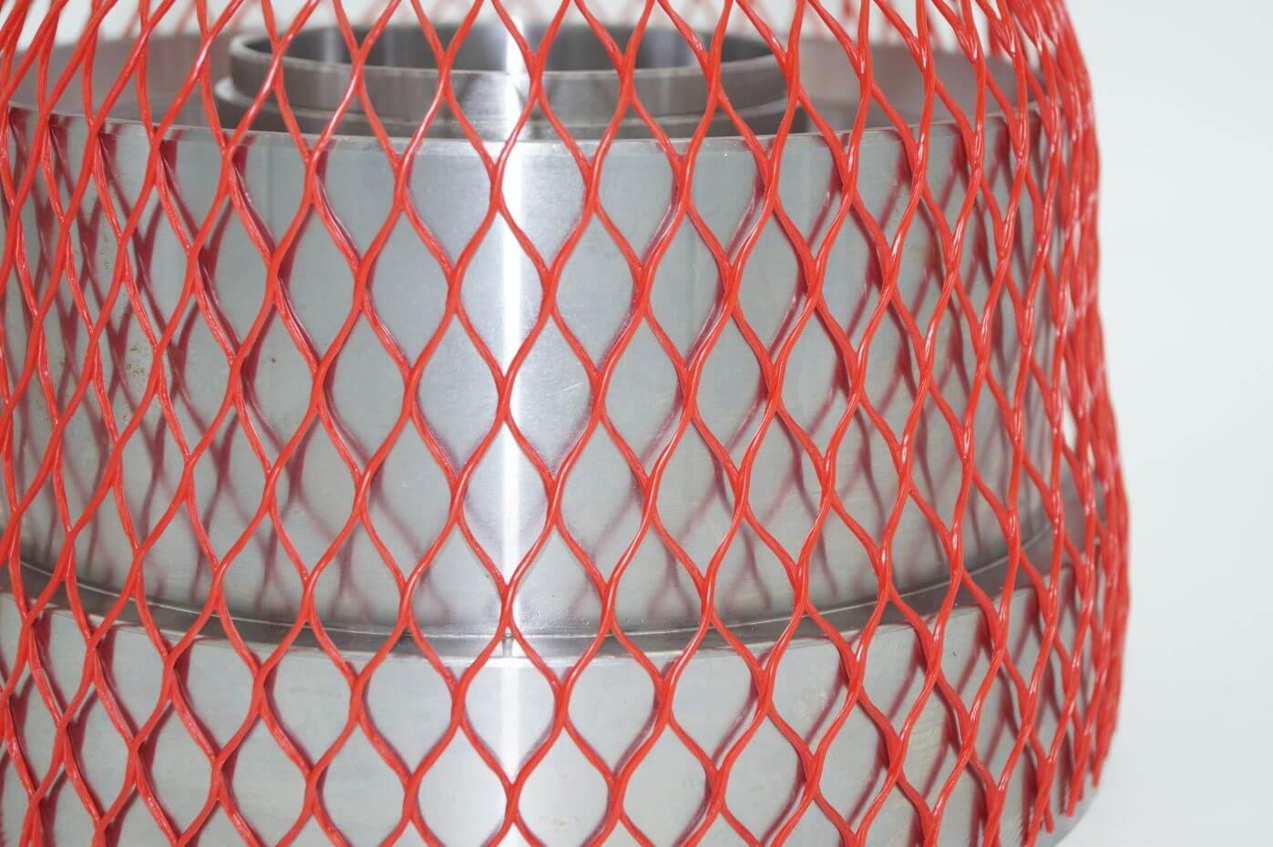 Oberflächenschutznetz CN 250 in rot
