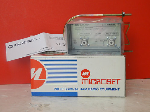 MICROSET MODEL PR145A LOW NOISE VHF MAST ANTENNA PREAMPLIFIER