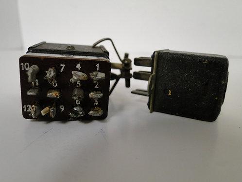 Vinatge Connectors 12 pin M & F + 6 pin male