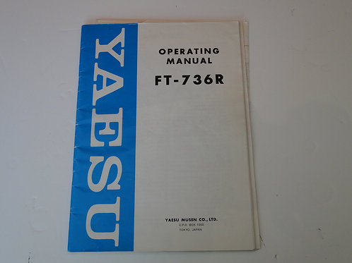 YAESU FT-736R OPERATING MANUAL