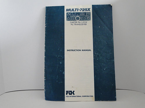 Multi-725x instruction manual