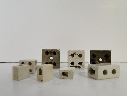 Ceramic connecting blocks all different sizes in a freezer bag