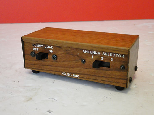 3 WAY ANTENNA SELECTOR WITH DUMMY LOAD No.90-686