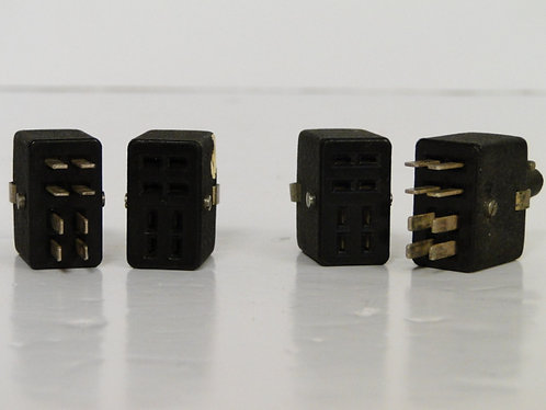 8 Pin Pair of Radio Male and Female Connection Sockets8