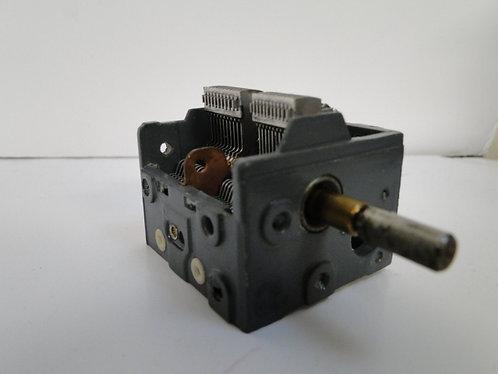 Dual gang air spaced variable capacitor like new unused