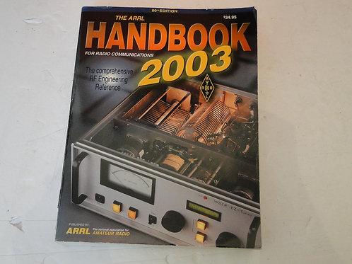 THE ARRL HANDBOOK 2003  80th EDITION