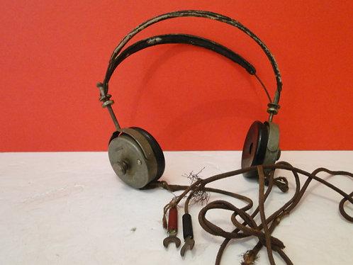 High Impedance 2000 Ohm Vintage Headphones