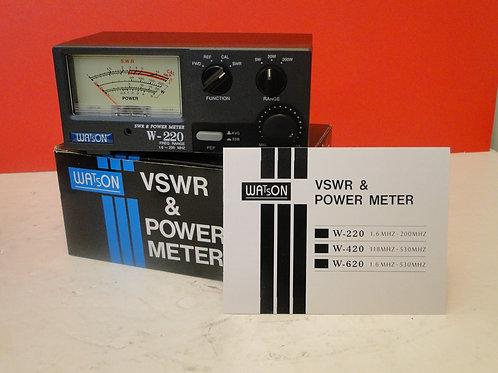 WATSON VSWR & POWER METER W-220 1.6MHz-200MHz